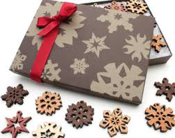 mini snowflake ornaments from nestled pines gift box set of