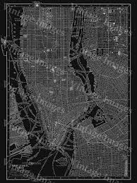 Manhattan Street Map New York City Manhattan Street Map 1910 Historic Black And White