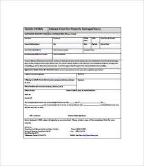 property damage release form insurance claim release form in pdf