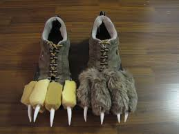 use an old pair of shoes some yellow foam from a craft store and