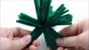 christmas craft chenille stem pipe cleaners christmas tree youtube