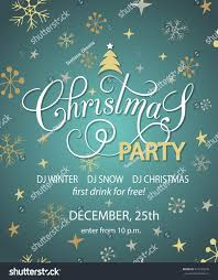 Party Invitation Card Template Christmas Party Background Design Template Christmas Stock Vector