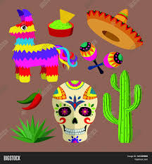 mexico bright icon set national vector u0026 photo bigstock