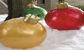 oversized ornaments large outdoor lighted