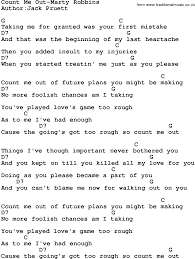 Count On Me Ukulele Tabs Pdf Country Count Me Out Marty Robbins Lyrics And Chords