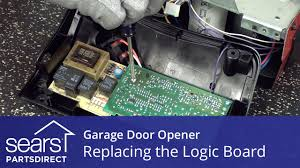 garage door opener components replacing the logic board on a garage door opener youtube