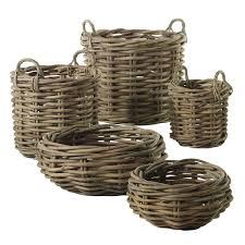 Wicker Vases Wooden Vases Wooden Flower Pots Accent Decor