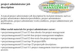 Job Desk Project Manager Project Administrator Job Description