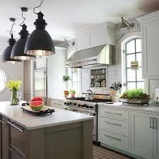 long taupe kitchen island design ideas