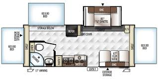 Rockwood Trailers Floor Plans Full Specs For 2017 Forest River Rockwood Roo 233s Rvs Rvusa Com