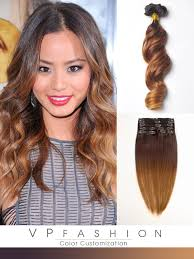 three colors ombre clip in hair extensions m023027s m023027s