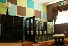 bedroom blue white and black bedding set for nursery room with