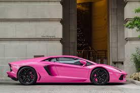 pink lamborghini aventador lamborghini aventador finished in bright pink gtspirit