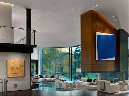 cozy living room design at aspen art house near contemporary