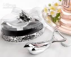 wedding favors wholesale wedding gifts of dove silver chrome bottle opener wedding