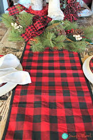 buffalo check table runner buffalo check tablescape for less than 100 from hobby lobby