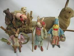 Vintage Easter Decorations On Ebay by 212 Best Spun Cotton And Needle Felted Images On Pinterest