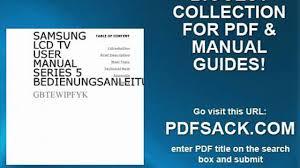 samsung lcd tv user manual series 5 bedienungsanleitung video