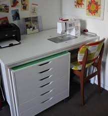 Diy Sewing Desk Cheeky Cognoscenti Fabulous Diy Sewing Cabinet Badskirt S Ikea Hack