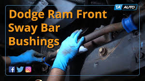 Dodge 3500 Truck Parts - how to install replace front sway bar bushings 2003 08 dodge ram