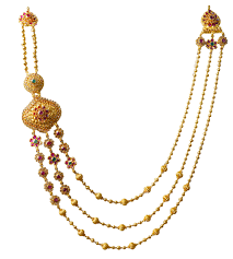 layer necklace images Saharsha n 3566 12 polki design layer gold necklace png