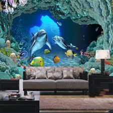 Wallpapers For Children Custom Large Shark Picture Mural 3d Wallpaper For Children Living
