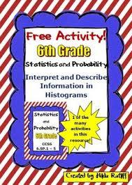 free activity histograms 6th grade math statistics by hilda