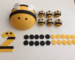 bumble bee cake topper edible bee topper etsy