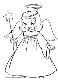 dibujos navideñas para colorear dibujo de angel de navidad para colorear1 gif