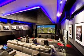 Home Theater Ceiling Lighting Contemporary Home Theater With Track Lighting High Ceiling