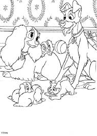 lady tramp eating spaghetti coloring pages hellokids