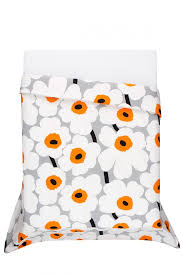 Marimekko Comforter Semi Annual Sale In Home Unikko Orange Full Queen Duvet Set