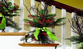 Decorating Banisters For Christmas Excellent Front Porch Christmas Decorating Ideas Pictures Photo