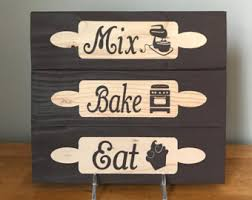 decor signs rustic kitchen decor etsy