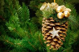 pinecone ornament diy crafthubs