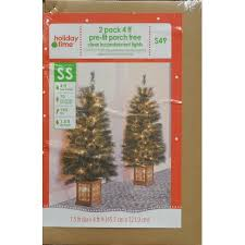 pre lit entryway trees decor