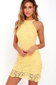 yellow dress lace dress yellow dress sleeveless dress 64 00