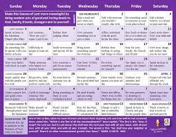 Live Prayer Chat Room by United Methodist Women Good Deeds For Lent 2017 Lenten Calendar