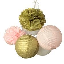 aliexpress com buy 6pcs set gold pink white paper lanterns