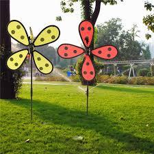 Bee Garden Decor Diy Cute Bee Ladybug Windmill Lawn Garden Yard Home Camp Decor