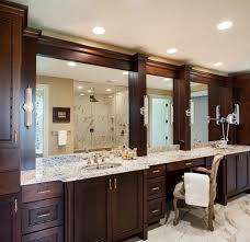 Unique Bathroom Mirror Frame Ideas Bathroom Elegant Bathroom Decor With Large Framed Bathroom