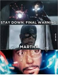 Martha Meme - stay down final warning martha martha meme on sizzle