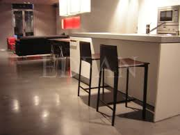 floor in a kitchen at a loft with microcement edfan kitchens