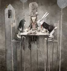 alice in wonderland movie wallpapers gabriel pacheco alice the mad hatter and the white rabbit have