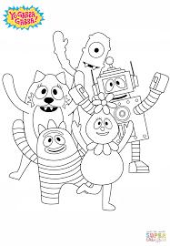 yo gabba gabba coloring free printable coloring pages