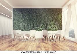 Interior Design Of An Office Front View Office Cafe Interior Large Stock Illustration 658827538