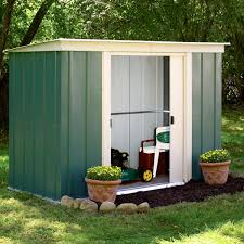 Shiplap Sheds 6 X 4 6x4 Greenvale Pent Metal Shed With Assembly Service Departments