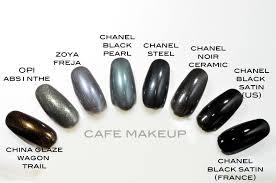 chanel black pearl and comparisons café makeup