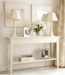 Ivory Console Table How To Decorate A Narrow Entryway Table Dans Design Magz