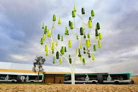 fake trees with spinning leaves could harness wind power